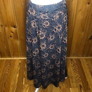 LuLaRoe Floral Maxi Skirt Size XXS